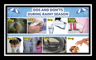 the do's and don'ts in rainy season