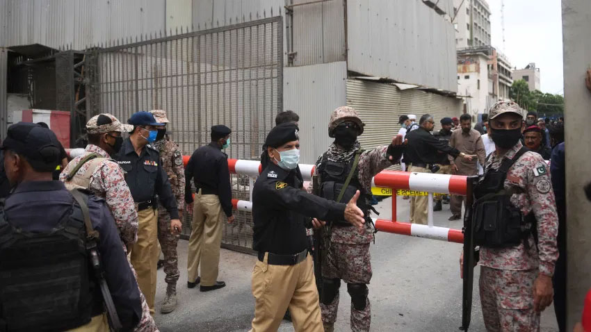 karachi stock exchange attack