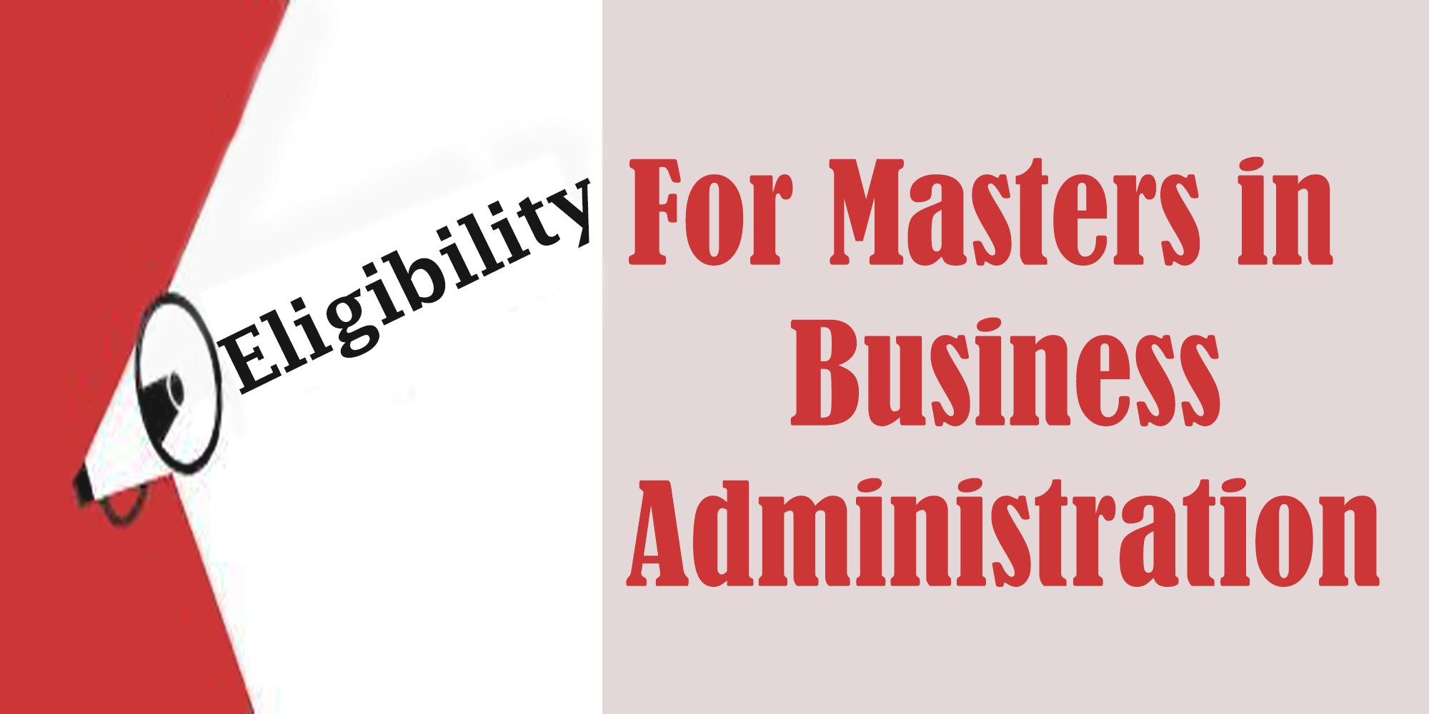 MBA eligibility criteria
